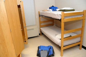Pictured... a typical barracks room