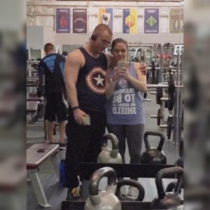 Seen above: me sharing lifting with my wife